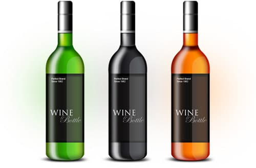 Wine bottle PSD template by GraphicsFuel.com