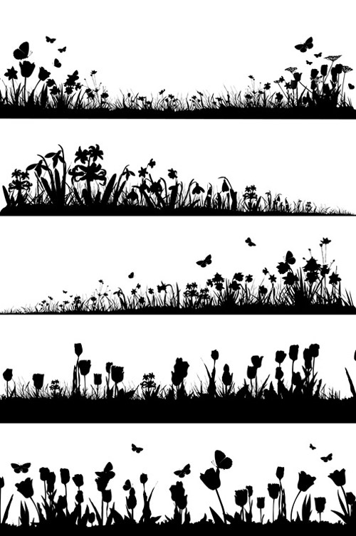 PSD Spring Silhouettes Mega Pack   FREE PSD FILES