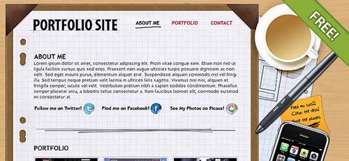 Free PSD Portfolio Layout   FREE PSD FILES