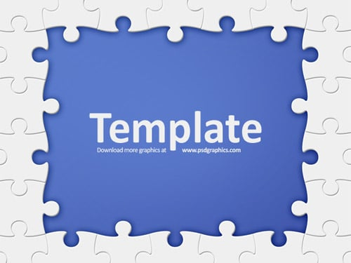Puzzle frame template | psdGraphics