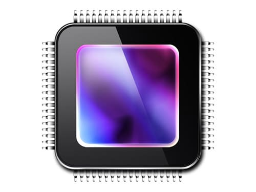 Graphics processing unit, GPU icon (PSD)
