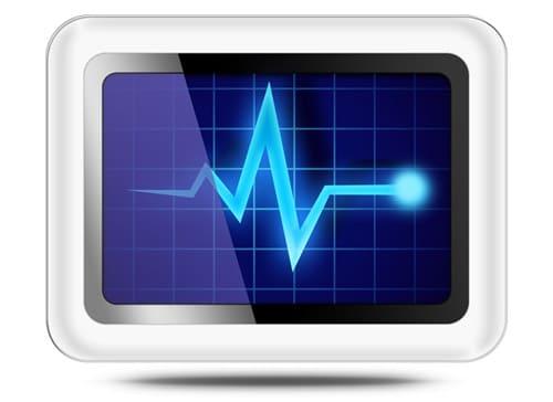 Computer diagnostics icon (PSD)
