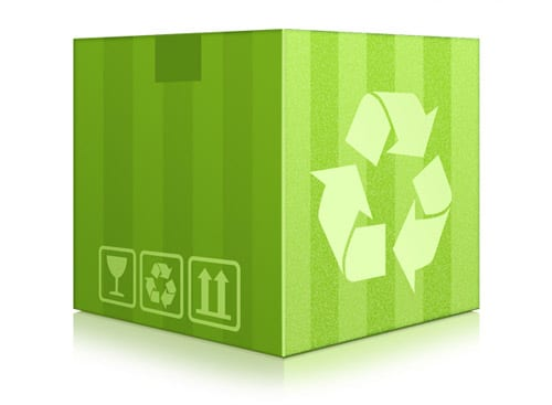 Green recycling box (PSD)