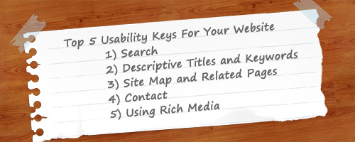Web Usability: Top 5 Tips For Your Website