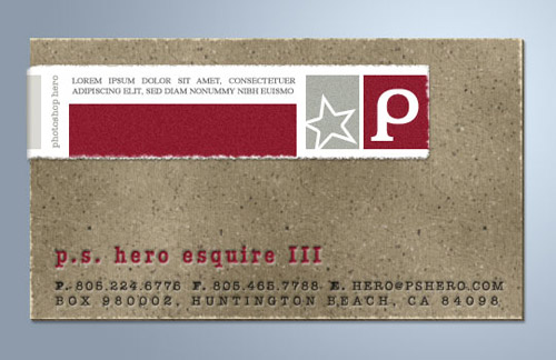 Cardboard And Torn Paper Business Card