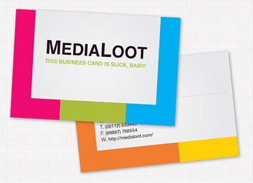 Business card design collection of 20 great tutorials designrfix how to create a colorful business card template in illustrator cs4 free template reheart Gallery