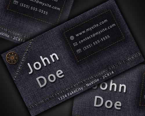 Business card design collection of 20 great tutorials designrfix tutorials design a cool and original jeans style business card in photoshop reheart Image collections