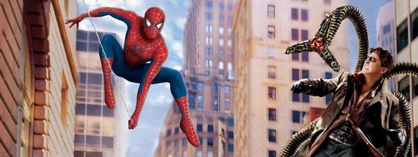 Dual screen wallpaper - Spiderman