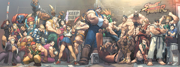 Dual screen wallpaper - Street Fighter