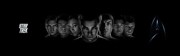 Dual screen wallpaper - Star Trek
