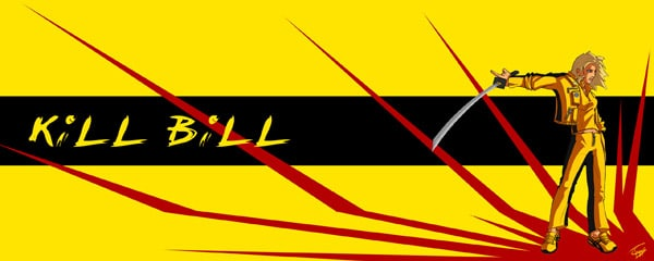 Dual screen wallpaper - Kill Bill