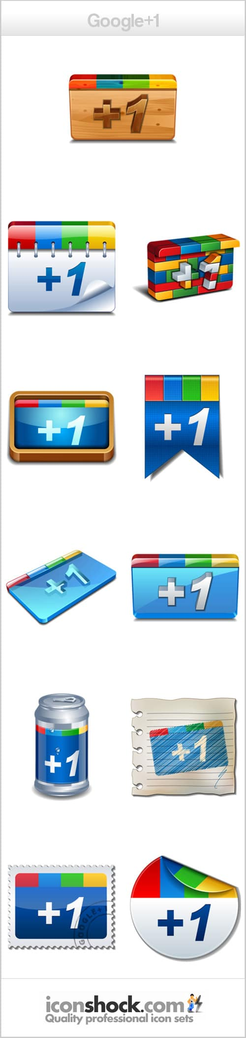 Google plus icons by Iconshock
