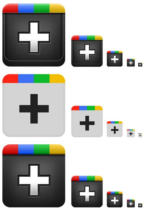 GraphicsFuel.com | Google plus icons (PSD)