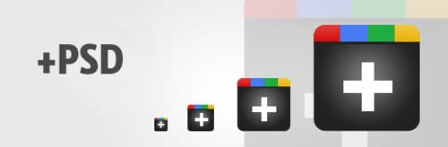 Freebie: 8 Google Plus (+) icons and PSD file