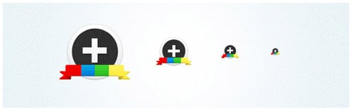 Google Plus(+) Circular Icon Set (PSD + PNG) | Taiyab Raja