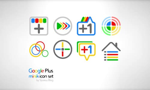 Google+ Minik Icons by Spaksu