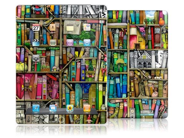 gelaskins.com - Colin Thompson - Bookshelf - iPad 2
