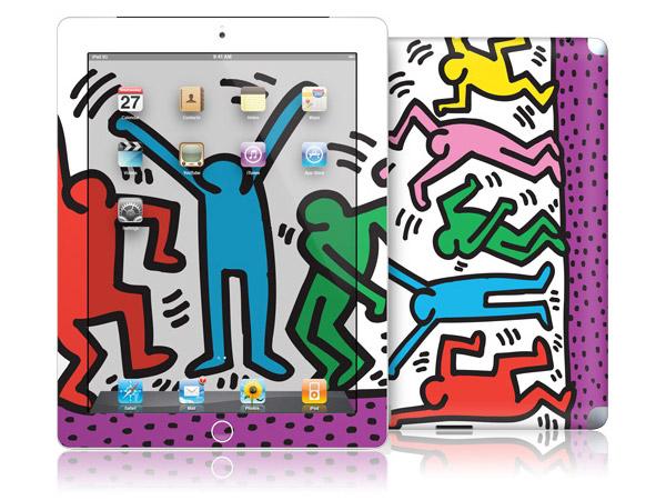 gelaskins.com - Keith Haring - Five Dancing Figures - iPad 2
