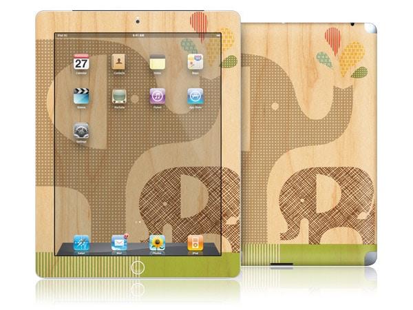 gelaskins.com - Petit Collage - Elephant with Calf - iPad 2