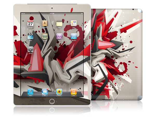 gelaskins.com - DAIM - Red Metal - iPad 2