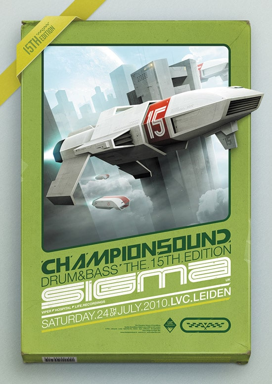 Champion Sound 15 - Flyer & Making-of