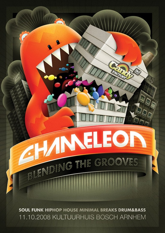Chameleon - Candy factory flyer