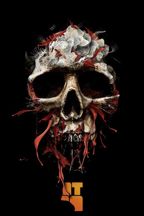 The blood drains down like devil's rain