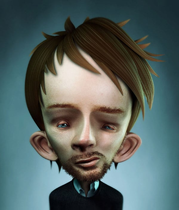 Thom Yorke caricature