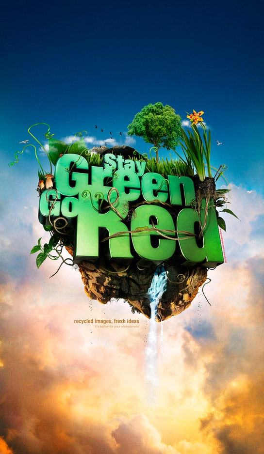 Stay Green. Go Red. poster/wallpaper