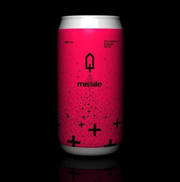 Missile Energy Drink - Branding, Packaging Design