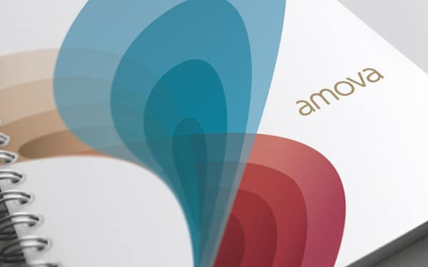Corporate and brand identity Amova