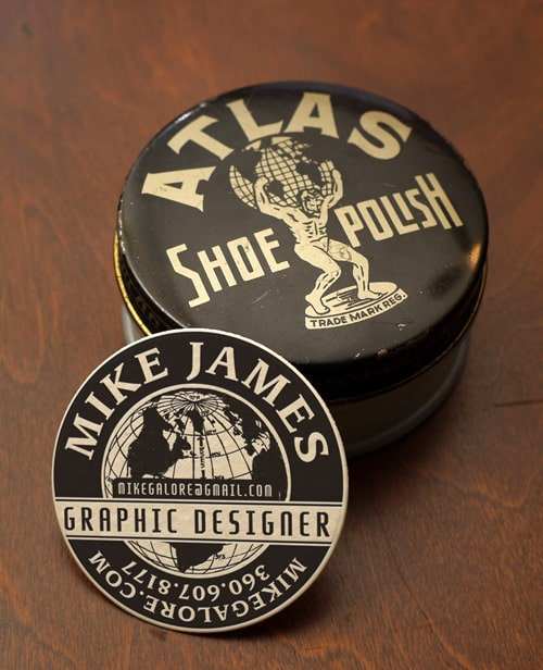 Shoe Polish Business Card Design