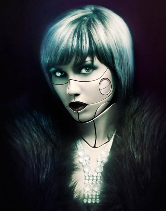 Create a Female Cyborg in Photoshop Tutorial