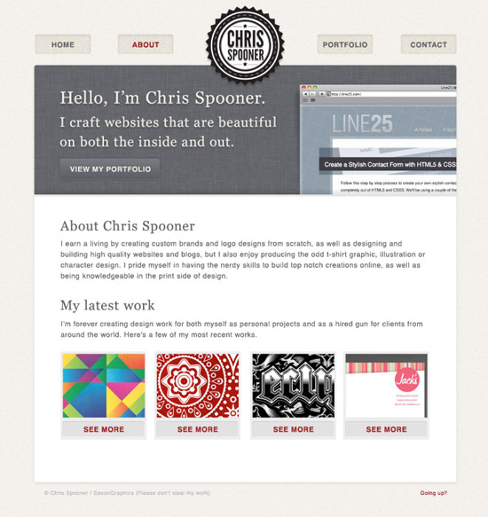 How To Build a Stylish Portfolio Web Design Concept