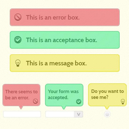 Alert Box Photoshop Tutorial :: UI Series