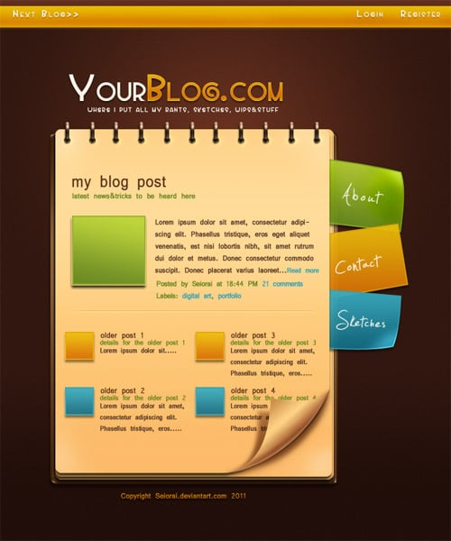Web 2.0 Professional Blog Layout Tutorial