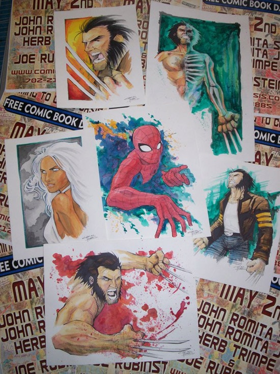 Wolverine Weekend Watercolors by KidNotorious