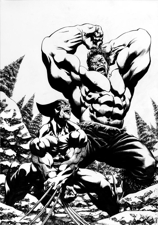 Wolverine Vs Hulk by david yardin