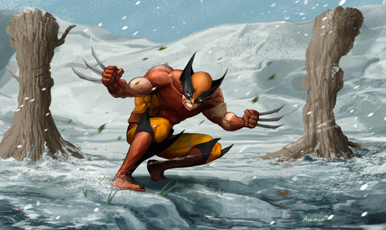 Wolverine winter assault by androsm