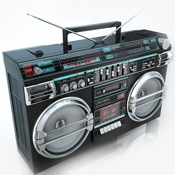 Retro BoomBox Crown SZ-5100SL by iljujjkin