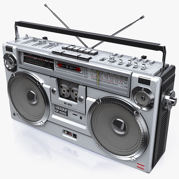 Retro Boombox SHARP GF-9292 by iljujjkin
