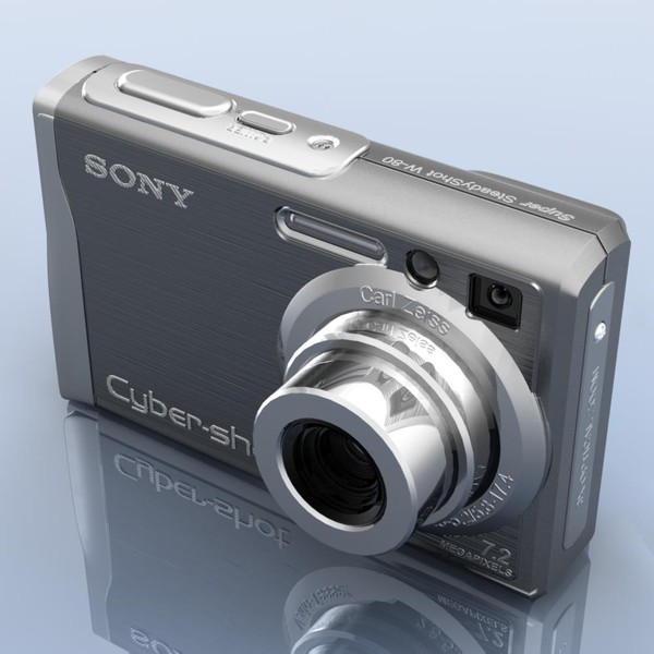 Photocamera.SONY Cybershot DSC W80 by 3DLocker