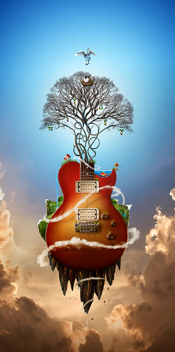 The music nature
