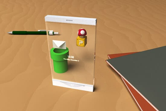 Thru –Lucent Mobile Phone Concept