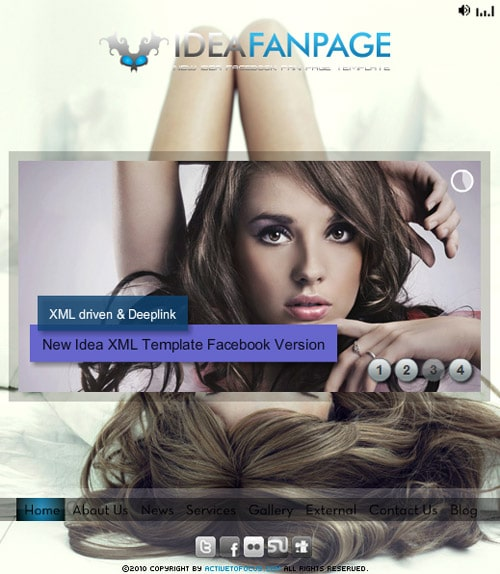 Idea Facebook Fan Page Template