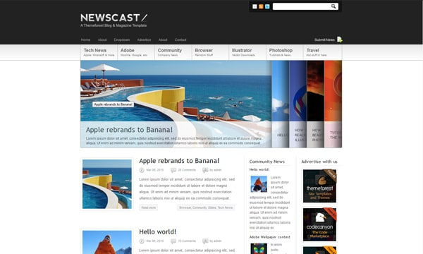 Newscast 4 in 1 - WordPress Magazine and Blog