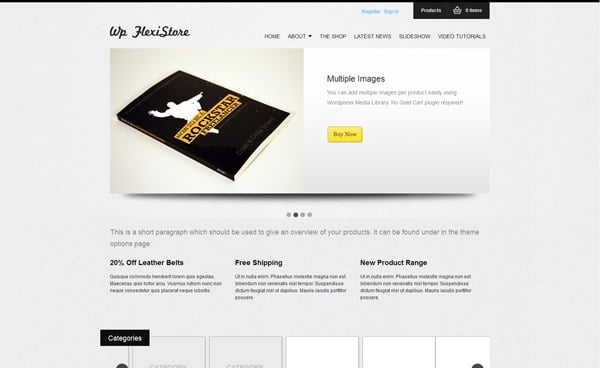 WP FlexiShop - A Versatile WP E-Commerce Theme