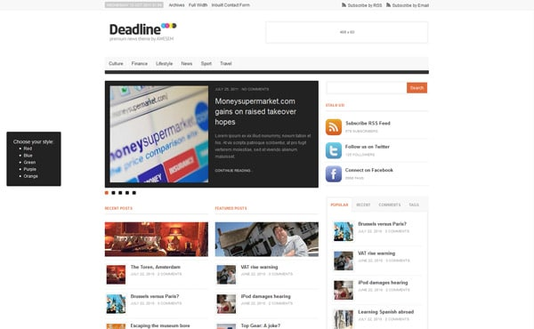 Deadline - Premium WordPress News / Magazine Theme