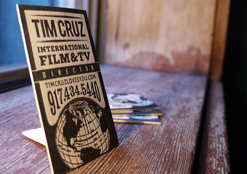 Letterpress Director Business Cards