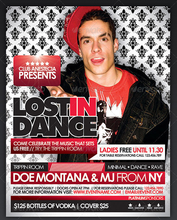 Lost In Dance Flyer